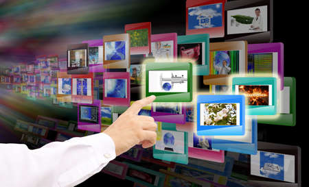 Innovative computer technologies  The concept the Internet photo