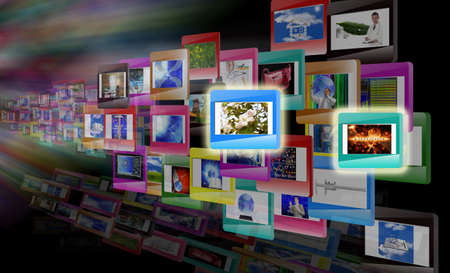 Innovative computer technologies  The concept the Internet Stock Photo - 12871877