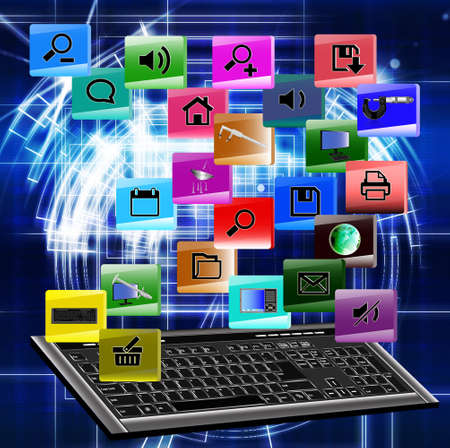 Innovative computer the technology Internet  The concept the Internet Stock Photo - 12871913
