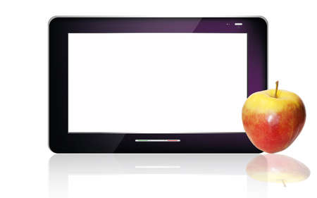 Black  abstract tablet pc on white background Stock Photo - 13082654