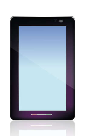 Black  abstract tablet pc on white background photo