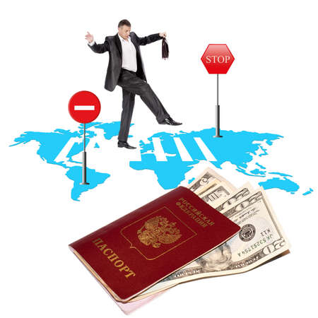 Registration of the passport and the visa to departure on rest abroad photo