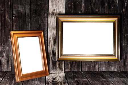 Decorative frame for a photo  on a wooden background Stock Photo - 13264216