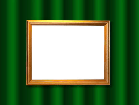 Decorative frame for a photo  on a green abstract background photo