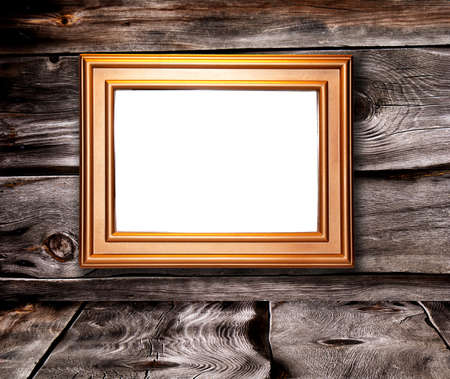 Decorative frame for a photo  on a old wooden background Stock Photo - 13264261