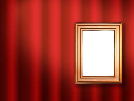 Decorative frame for a photo  on a red abstract background photo