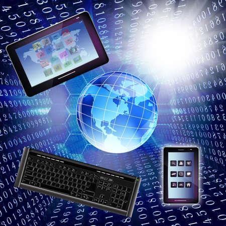 Innovative internet technology Background photo