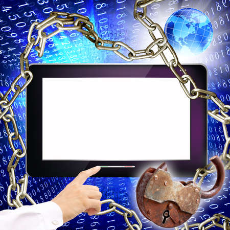 Creation of information safety technologies Internet Stock Photo - 13604774