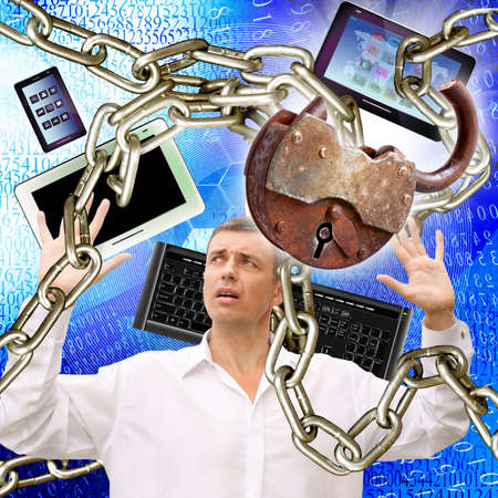 Creation of information safety technologies Internet Stock Photo - 13604775