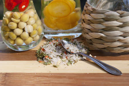 Marinaded vegetable spices photo