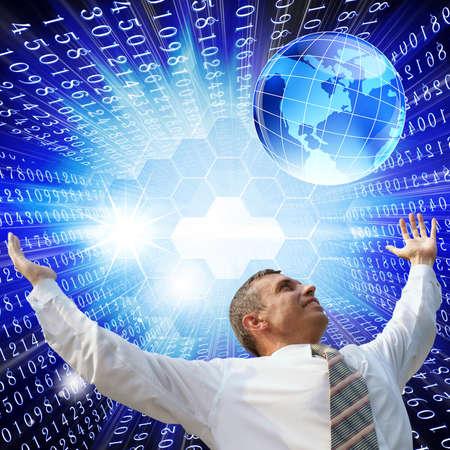 Digital internet technology Standard-Bild
