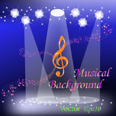 Holidays musical background Stock Vector - 14512022