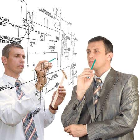 Engineering  designing Teamwork Stock Photo