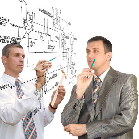 Engineering  designing Teamwork Stock Photo