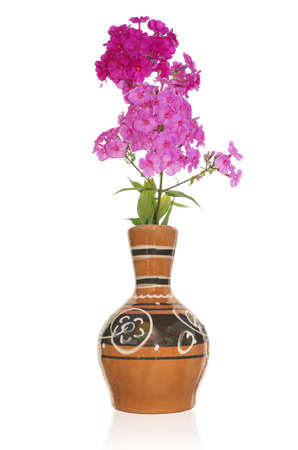 antique vase: The vintage antique vase and bouquet decorative flower Stock Photo