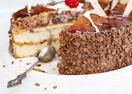 Sweet biscuit torte photo