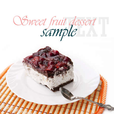 Sweet fruit dessert Biscuit photo