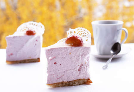 Pink fruit pastry biscuit Dessert photo