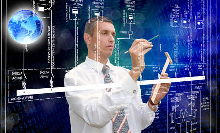 Engineering automation designing Stock Photo