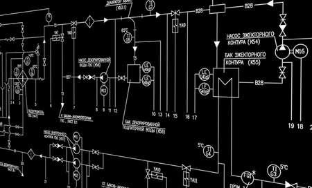 Engineering automation designing  Stock Photo