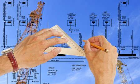 Engineering construction designing photo