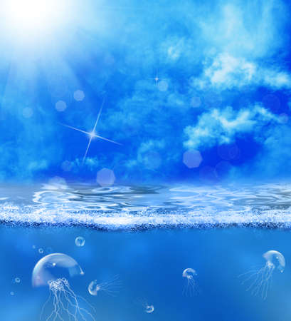 Undersea world Waterscape background photo