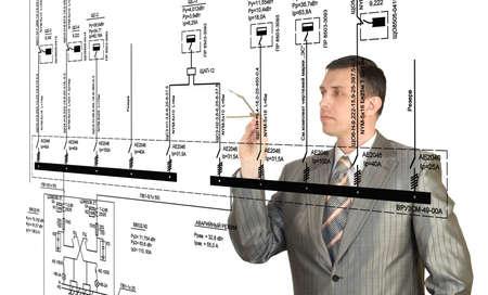 Engineer designer creation electrical scheme automation