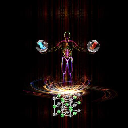 Genetic engineering Scientific innovative  research Stock Photo - 16514624