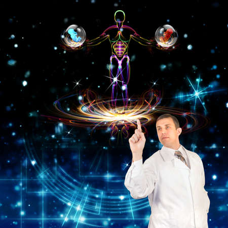 Genetic engineering Scientific innovative  research Stock Photo - 16514623