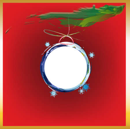 Abstract colorful christmas ball New Year background Vector