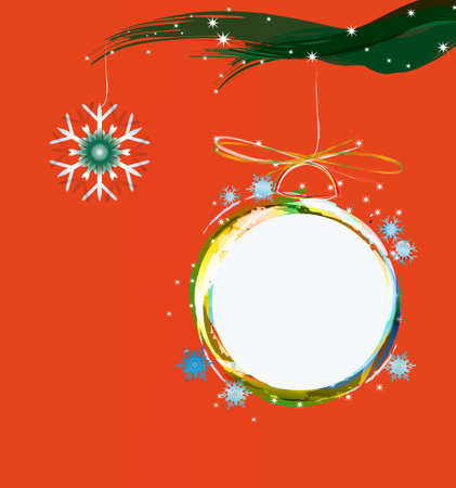 Abstract colorful christmas ball Merry Christmas photo