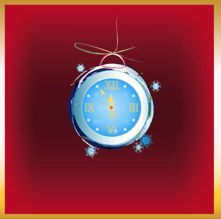 New Years clock Holiday concept Stock Vector - 16746779