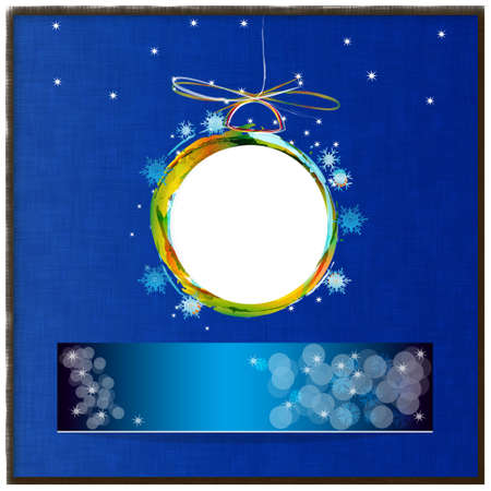 Colorful abstract new years ball Holidays card photo