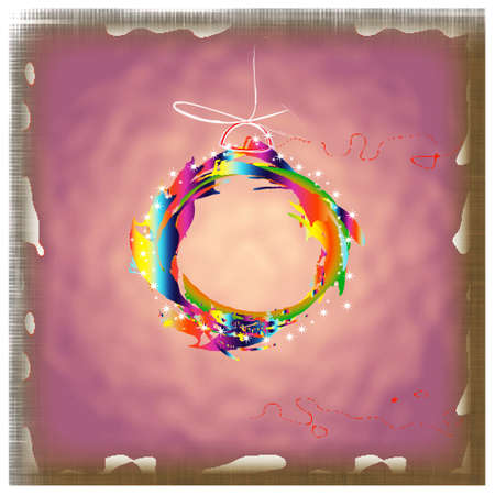 Colorful abstract new years ball Card photo