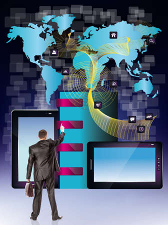 Social network The Internet concept Stock Photo - 16825870
