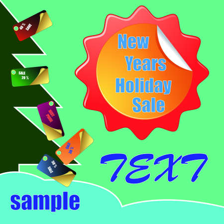 New Year holiday distribution Abstract business background Vector