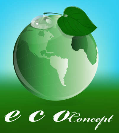 Ecology concept Green planet