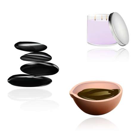 handful: Body care The spa procedure concept