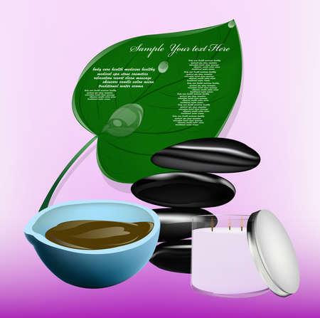 Body care The spa procedure concept Stock Vector - 16977979