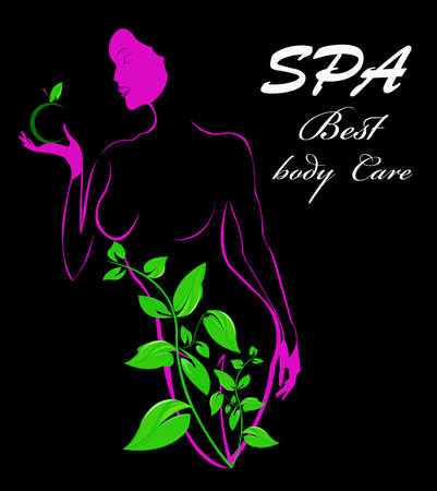 Best body care Spa concept  Stock Vector - 17009889