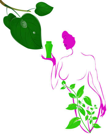 Best body care Healthy plants female medicine cosmetic Stock Photo - 17010071