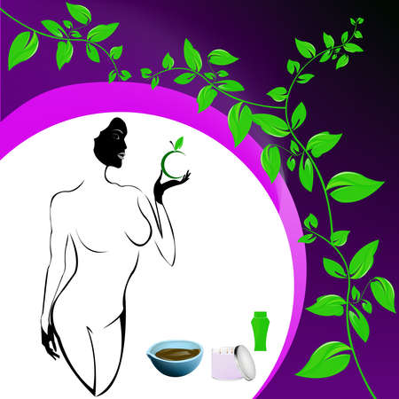 Best body care Healthy plants female medicine cosmetic and massage Stock Photo - 17010160
