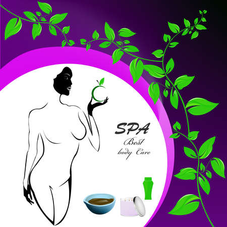 Best body care Healthy plants female medicine cosmetic and massage Stock Vector - 17010138
