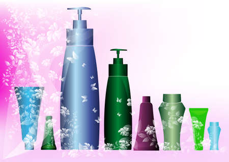 balm: The shampoo and balm Medicine cosmetology for female Stock Photo