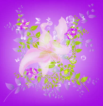 iillustration and painting: Abstract floral colorful  background  Illustration