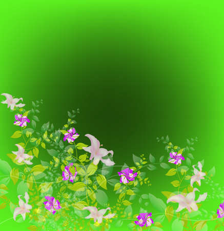 iillustration and painting: Abstract floral colorful  background