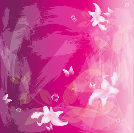 iillustration and painting: Abstract floral colorful  background Vector