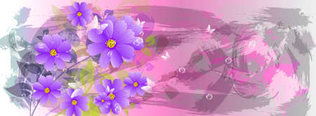 iillustration and painting: Abstract colorful  background Spa concept