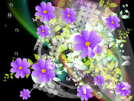 iillustration and painting: Abstract colorful  floral background