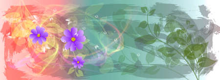 iillustration and painting: Abstract colorful  floral background  Spa